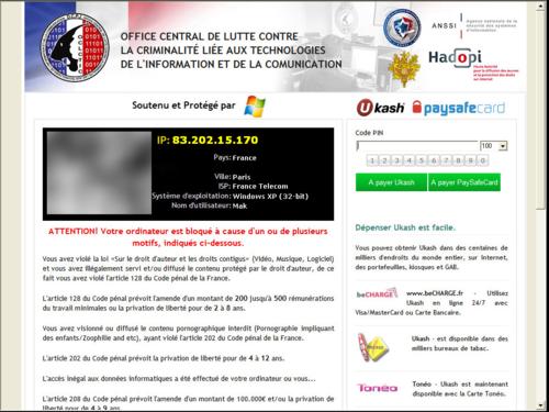 Virus Hadopi Police  Gendarmerie
