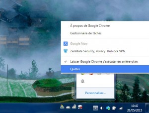 Fermer Google Chrome