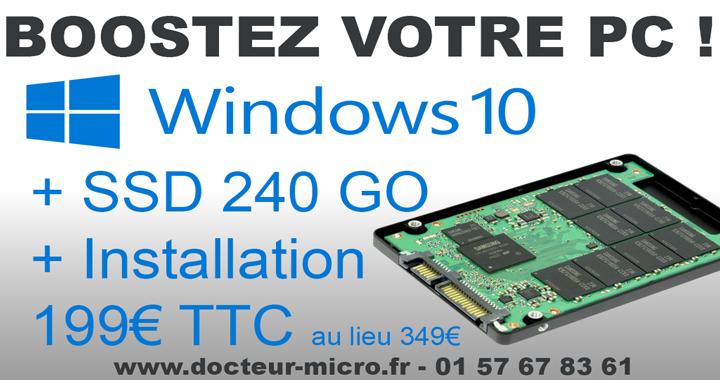 199 € Windows 10 + SS 240Go