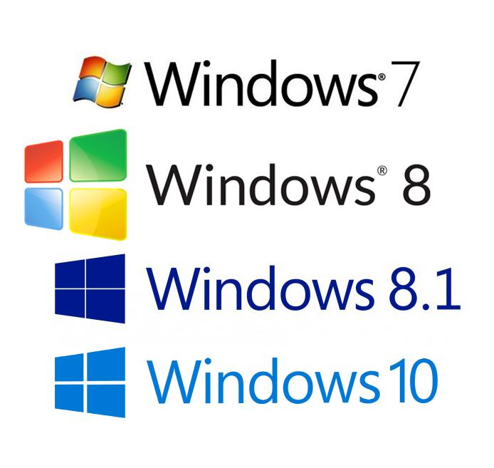 Evolution Versions Window W7 W8 W8.1 W10